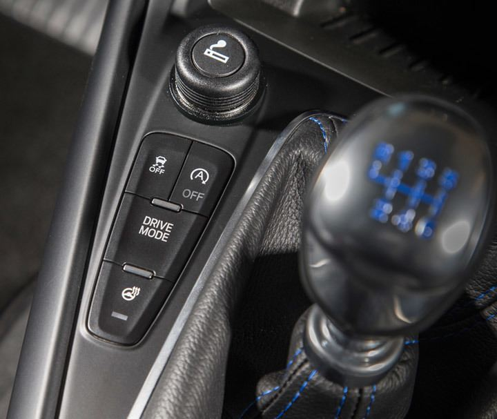 Focus RS Driving Mode Button
