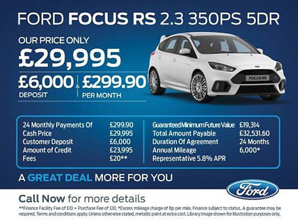 Focus RS PCP Deals