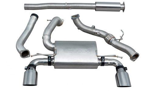 Cobra Turbo Back Exhaust Valveless Decat Res