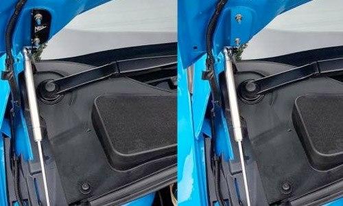 NS Styling Nitrous Blue Bonnet Struts