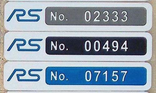 Focus RS Build Badge