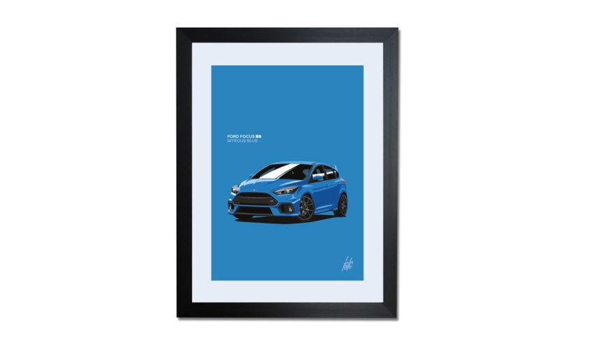 Focus RS Nitrous Blue Framed Print