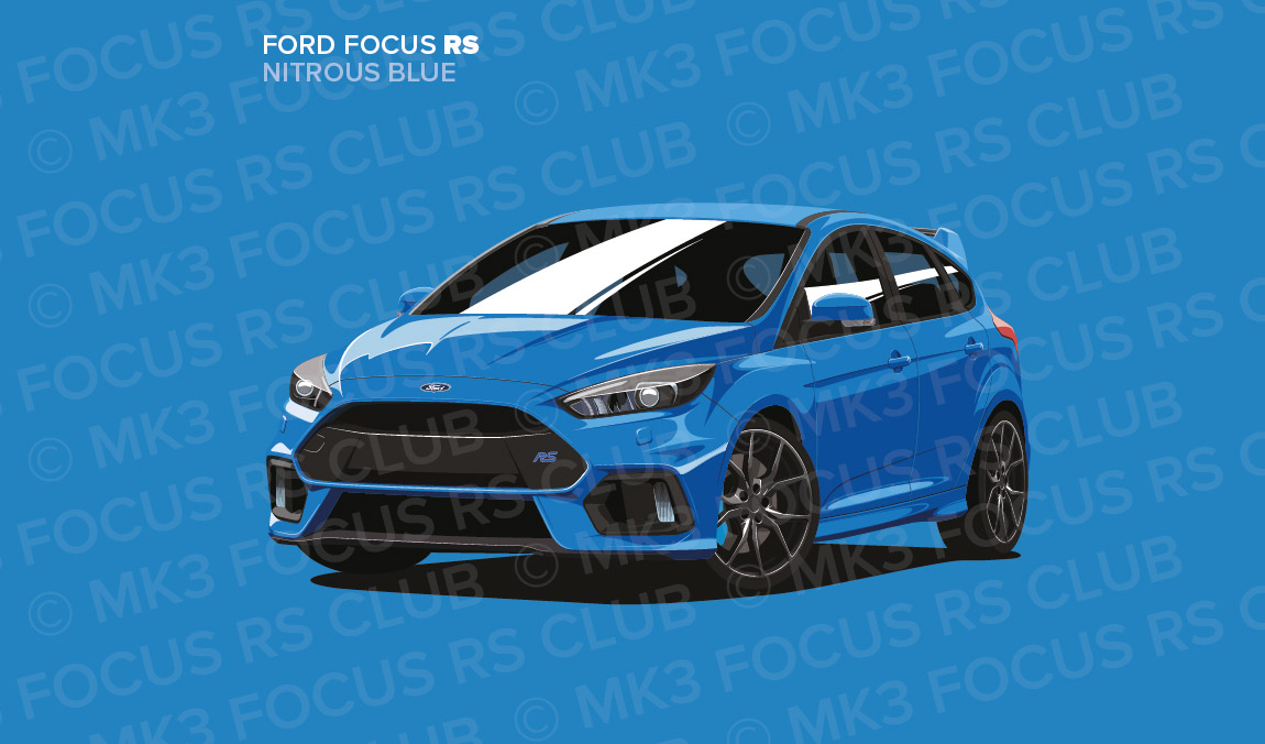 Nitrous Blue Focus Rs Print Mk3 Focus Rs Club
