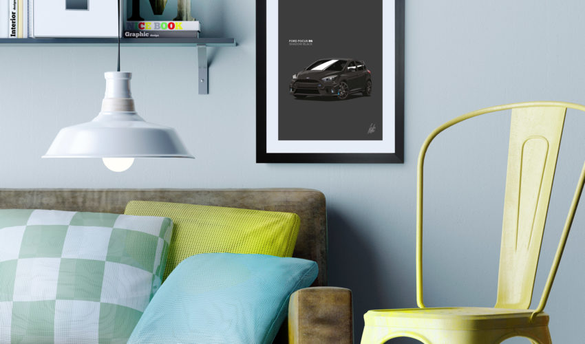 Focus RS Framed Print on Wall Black