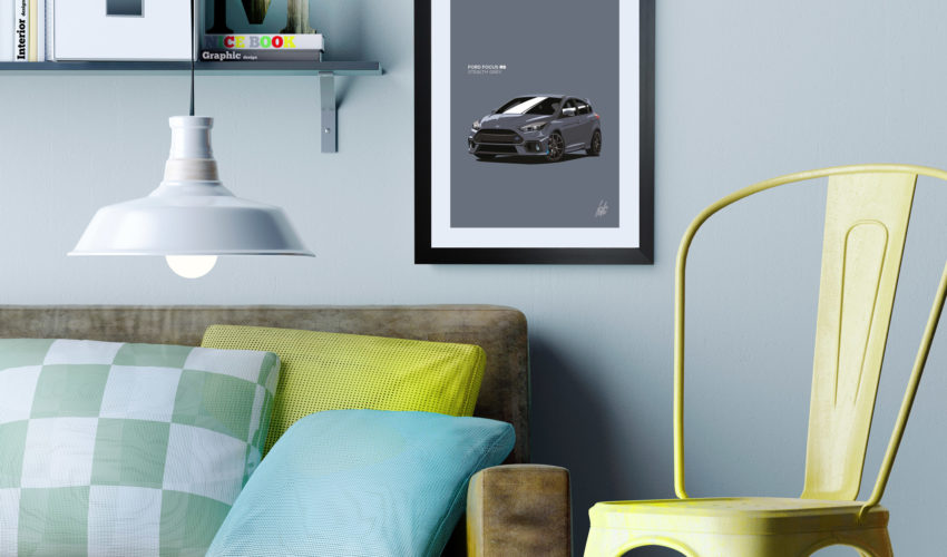 Focus RS Framed Print on Wall Stealth
