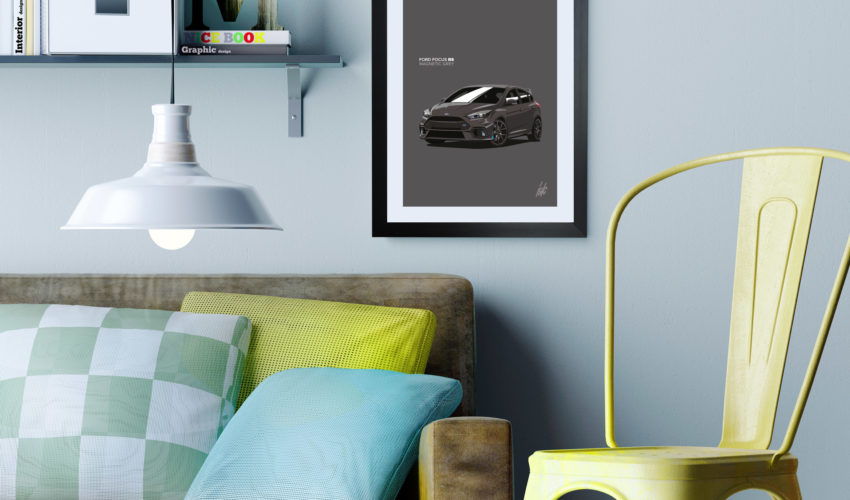 Focus RS Framed Print on Wall Magnetic