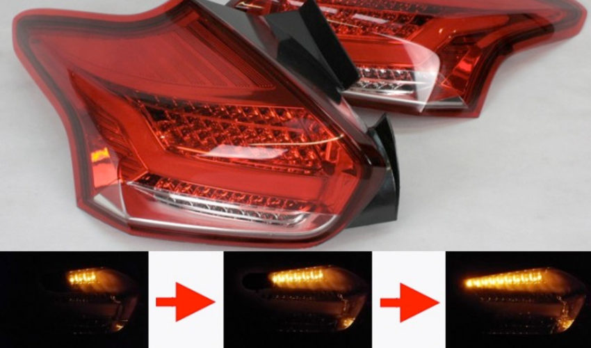 quantitec Sequential Red/Clear Rear LED Tail Lights Mk3 Focus RS