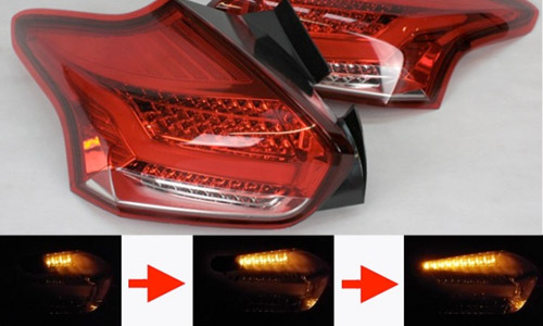 quantitec Sequential Red/Clear Rear LED Tail Lights