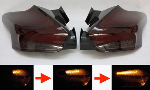 Sequential Red Smoked Rear LED Lights