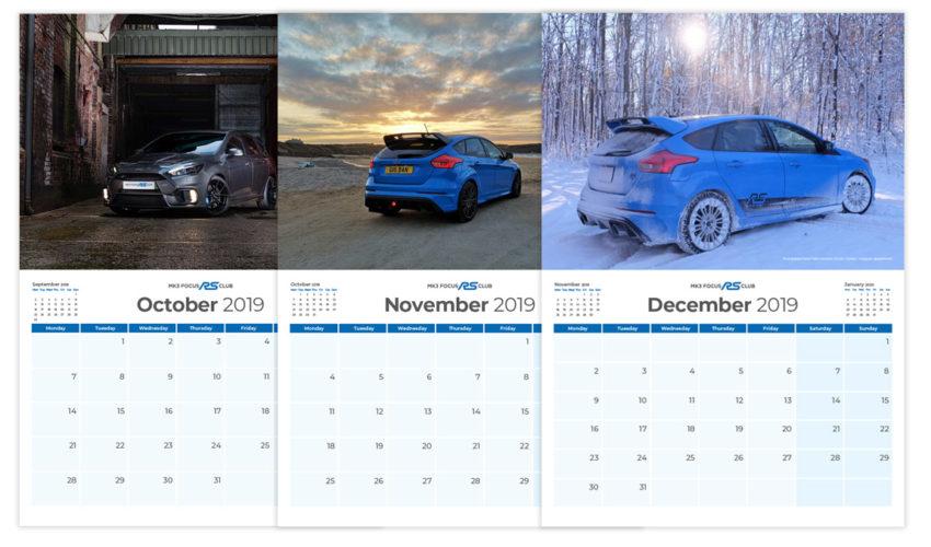 2019 Mk3 Focus RS Calendar
