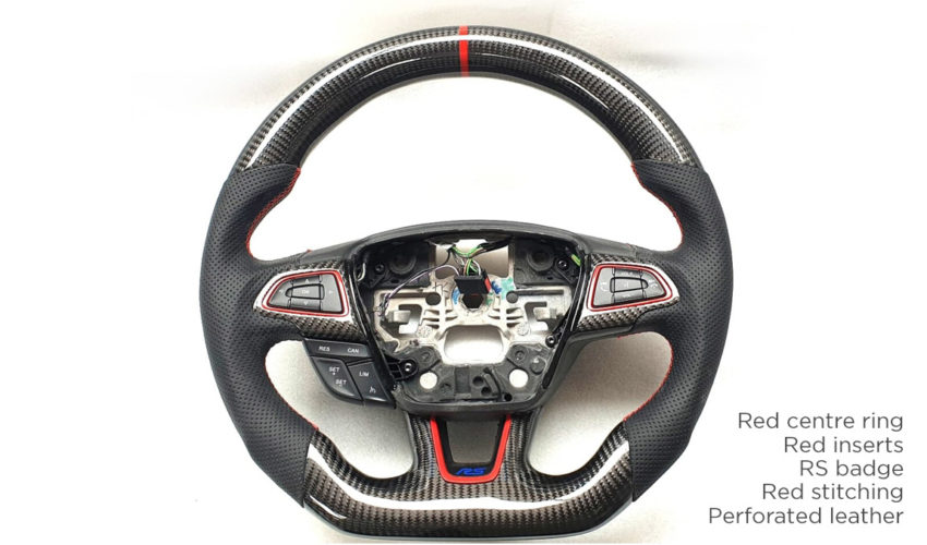 Kuro Carbon Steering Wheel Mk3 Focus RS Red Edition