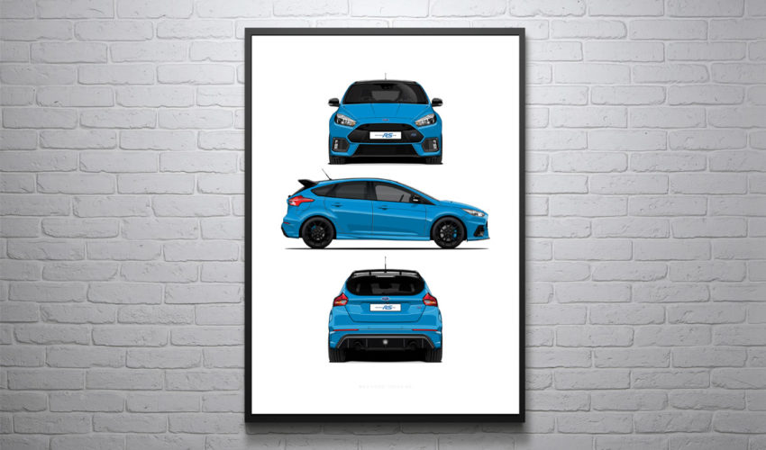 3 Profile Poster - Nitrous Blue Edition White Background