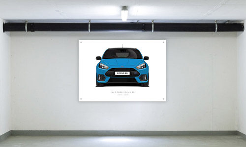 Nitrous Blue Edition Focus RS Garage Banner Side View