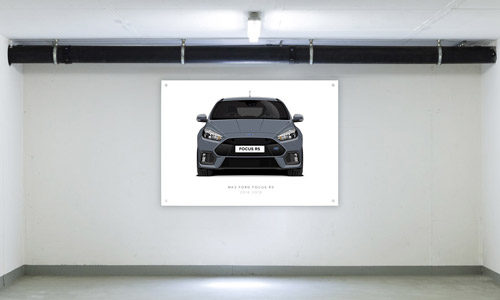 Stealth Grey Focus RS Garage Banner Side View
