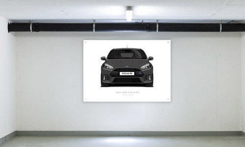 Magnetic Grey Focus RS Garage Banner Side View