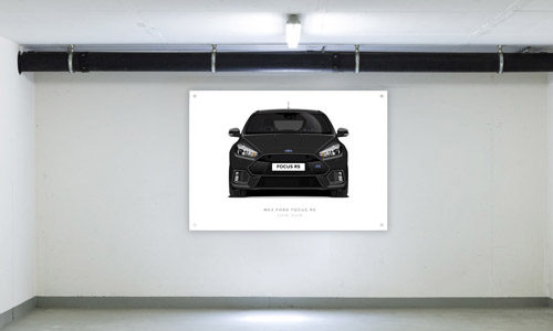 Shadow Black Focus RS Garage Banner Side View