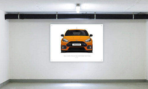 Heritage Edition Focus RS Garage Banner Side View