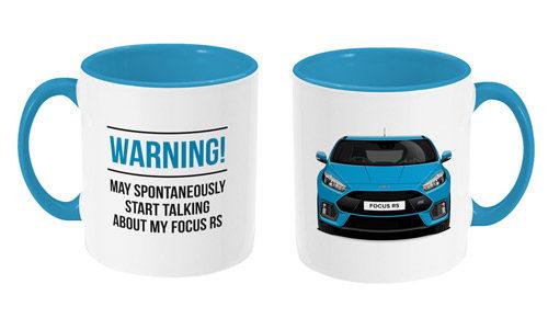 Focus RS Mug Nitrous Blue Quote Warning