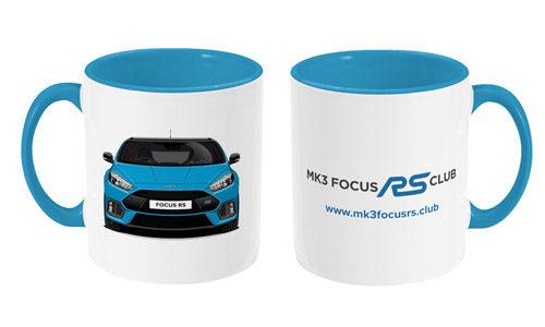 Two Toned Mug Focus RS Front & Club Logo